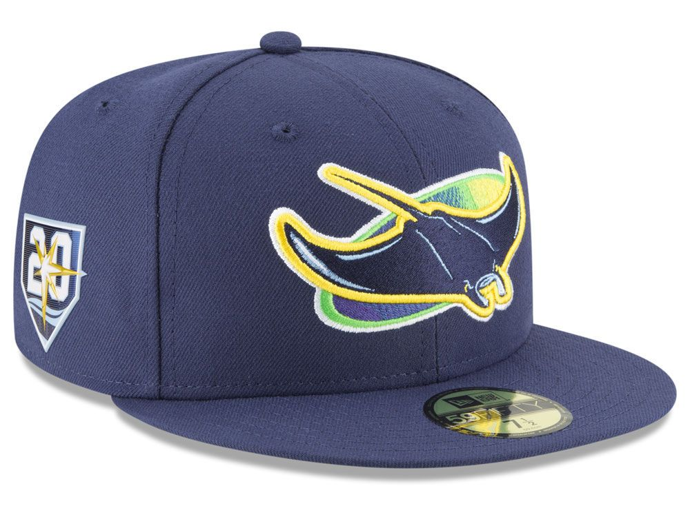 tampa bay rays new era mlb authentic collection 20th anniversary 59fifty cap tampa bay rays tampa bay rays hat fitted hats tampa bay rays new era mlb authentic