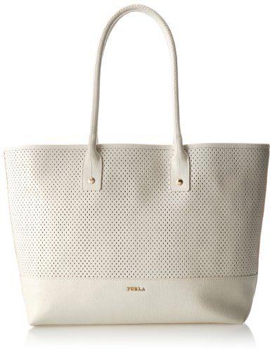 2b2de38c2314 Furla Melissa M Tote Perforated Oval Shoulder Bag Petalo | Handbags ...