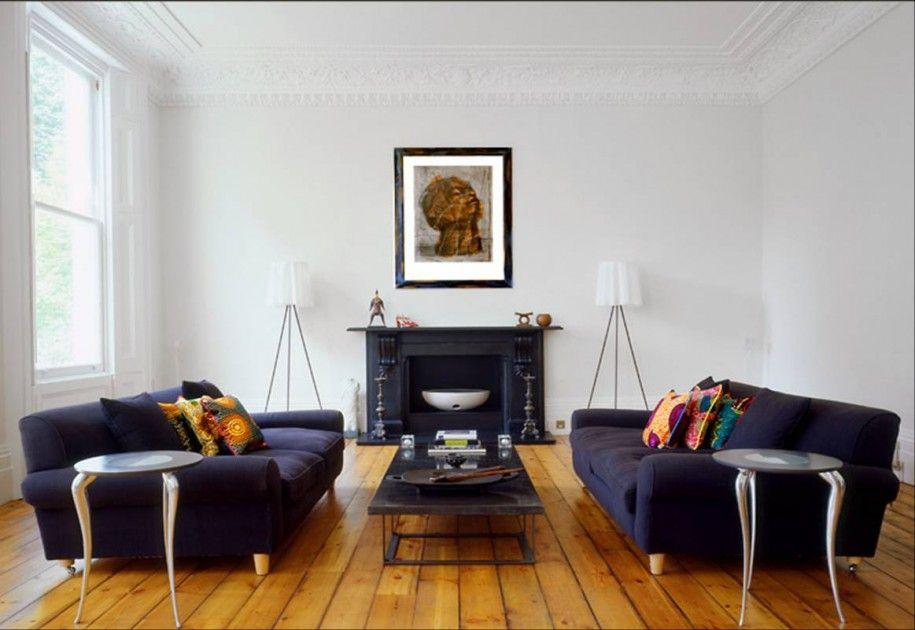 Blue Sofa Living Room With Fireplace Living Room Scandinavian Blue Living Room