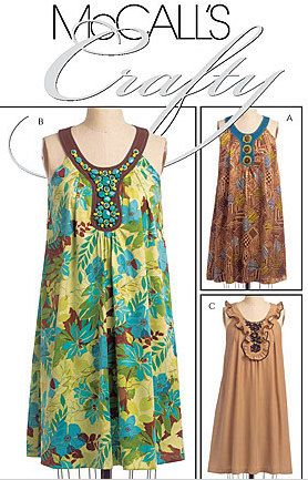 PLUS Size BOHO DRESS Sewing Pattern - Misses Bohemian Dresses - 4 ...