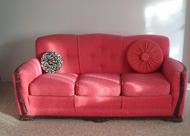 Vintage RETRO Couch recovered in Nylon Frise Beautiful Stuff