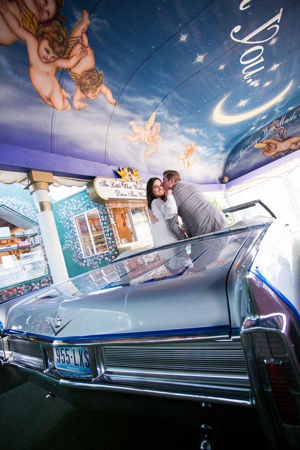 Little Vegas Wedding | Funky Fresh Drive-Thru Wedding in Vegas | The Amberlight Collective | http://www.littlevegaswedding.com