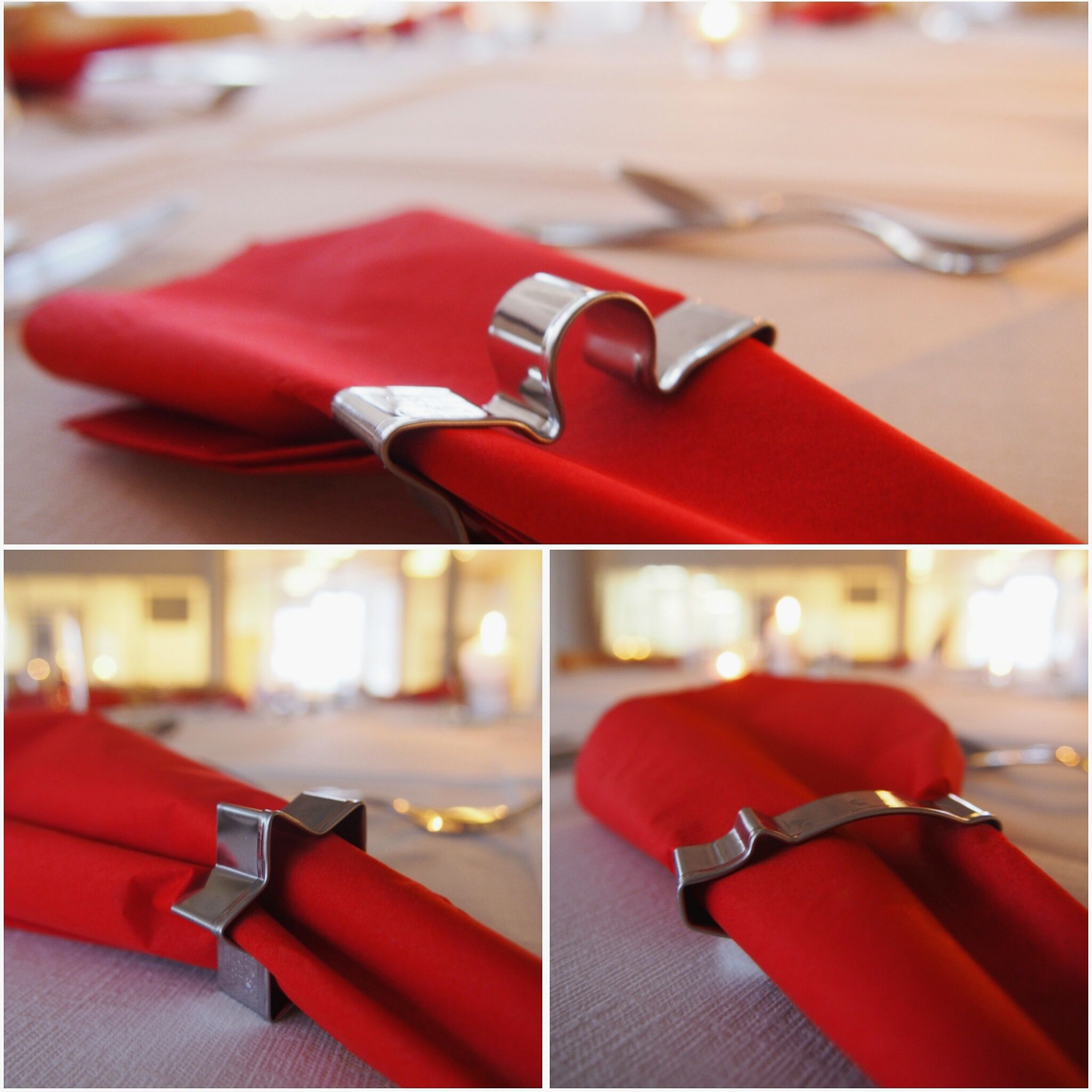 Orthex cookie cutters as napkin holders