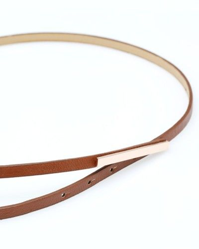 Bar Belt in Brown. Love how thin this is.