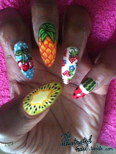 Tropical Fruit Nails.