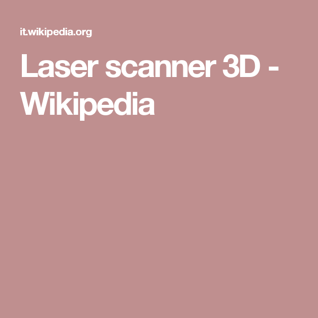 Laser scanner 3D - Wikipedia