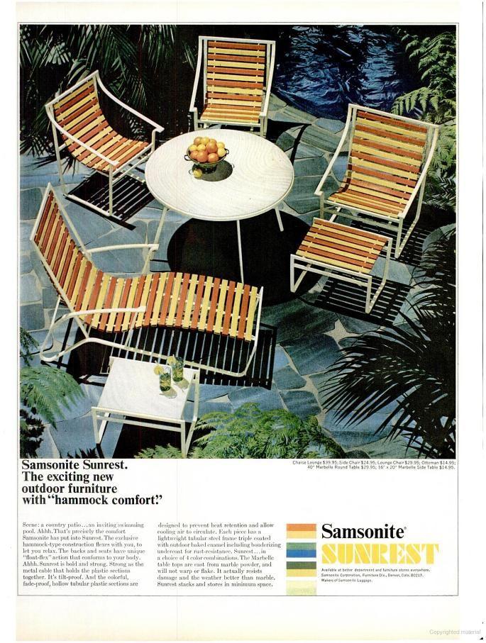 Samsonite Outdoor Furniture 1965 The 1960 S Pinterest