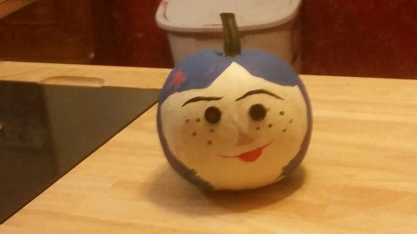 Coraline Painted Pumpkin With Button Eyes Pumpkin Decorating Painted Pumpkins Pumpkin