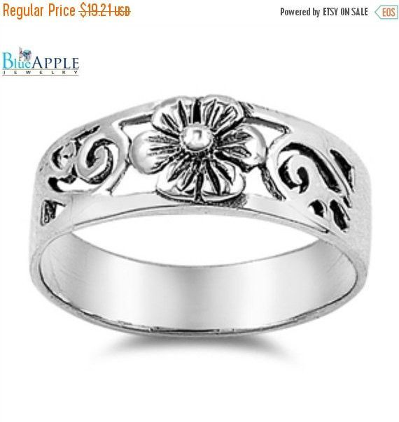 Plumeria Ring solid 925 Sterling Silver Swirl Flower Plumeria Ring Simple Plain Plumeria Ring Plumeria Lovers Gift