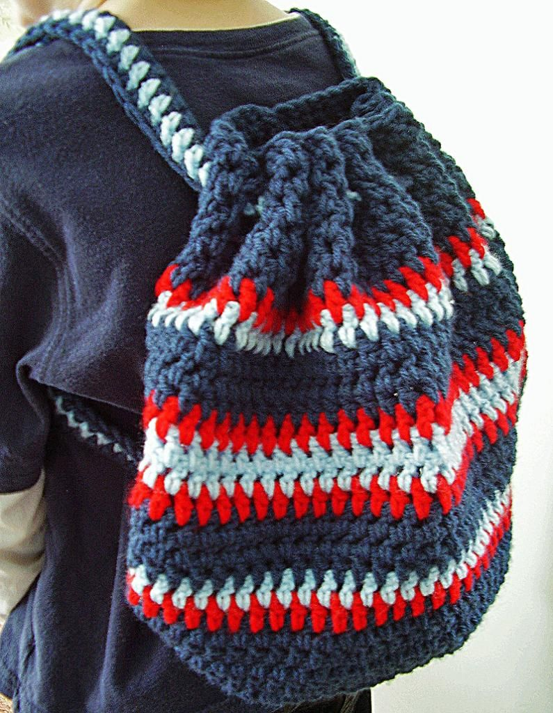 Crochet Backpack : ... Crochet Backpack on Pinterest Knit bag, Crochet bags and Crochet