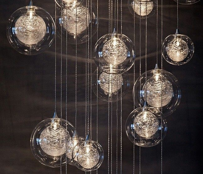 Explore Glass Pendant Light Glass Pendants and more! & I have to have this modern hanging globe chandelier! You can buy ...