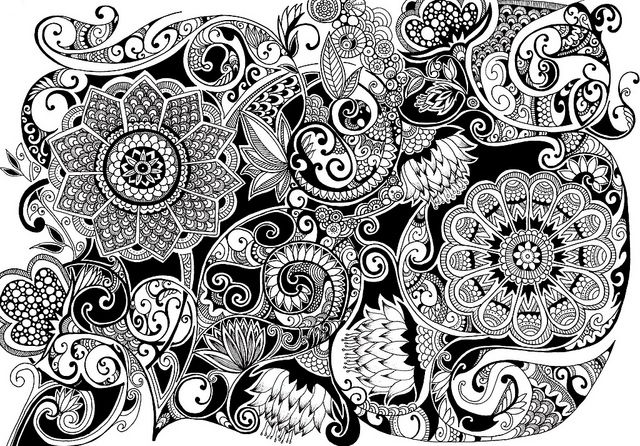 flower zentangles bing images schwarz wei muster 2 pinterest zentangle muster. Black Bedroom Furniture Sets. Home Design Ideas