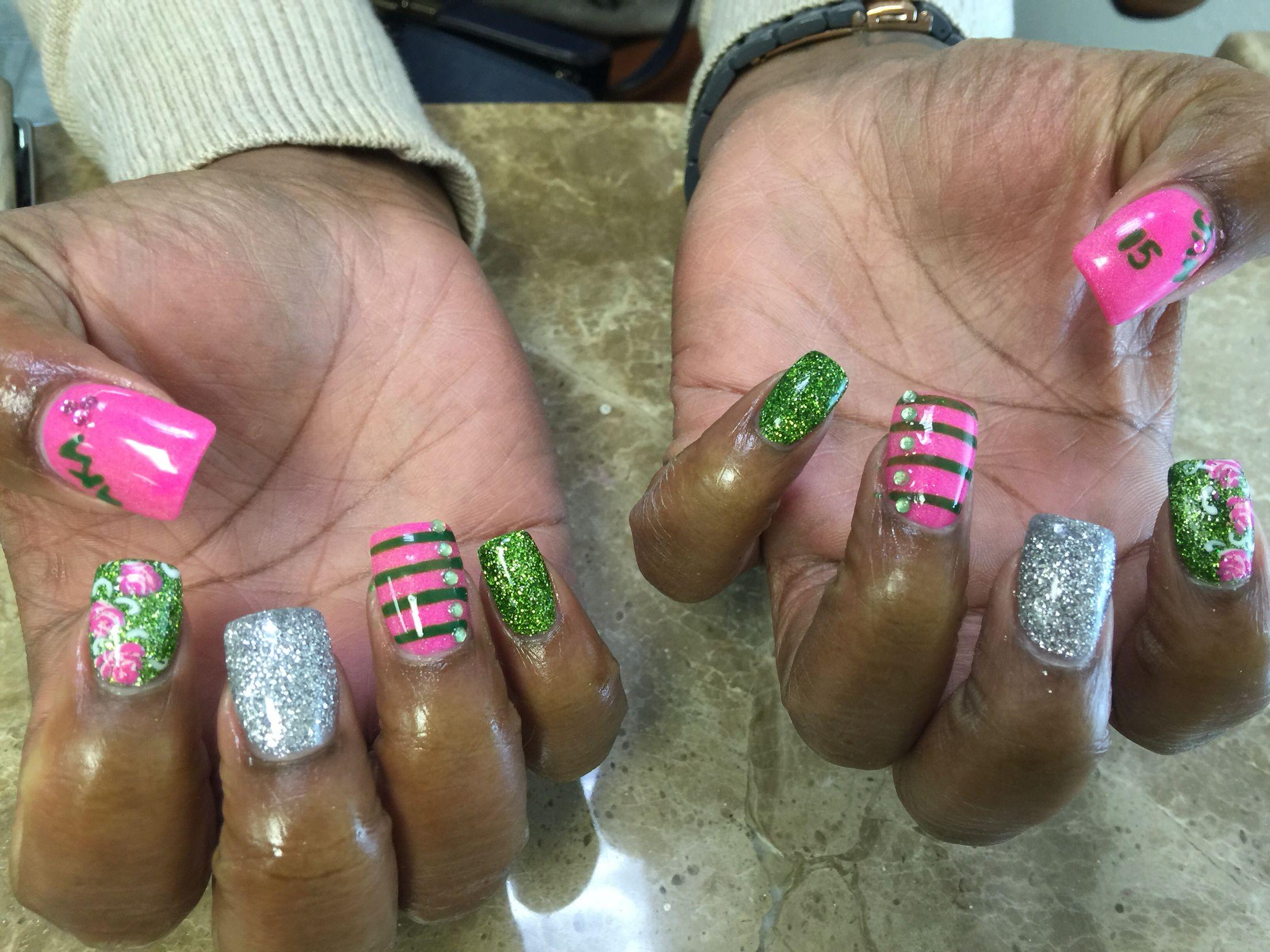 Aka nail design my nail designs pinterest aka nail design prinsesfo Choice Image