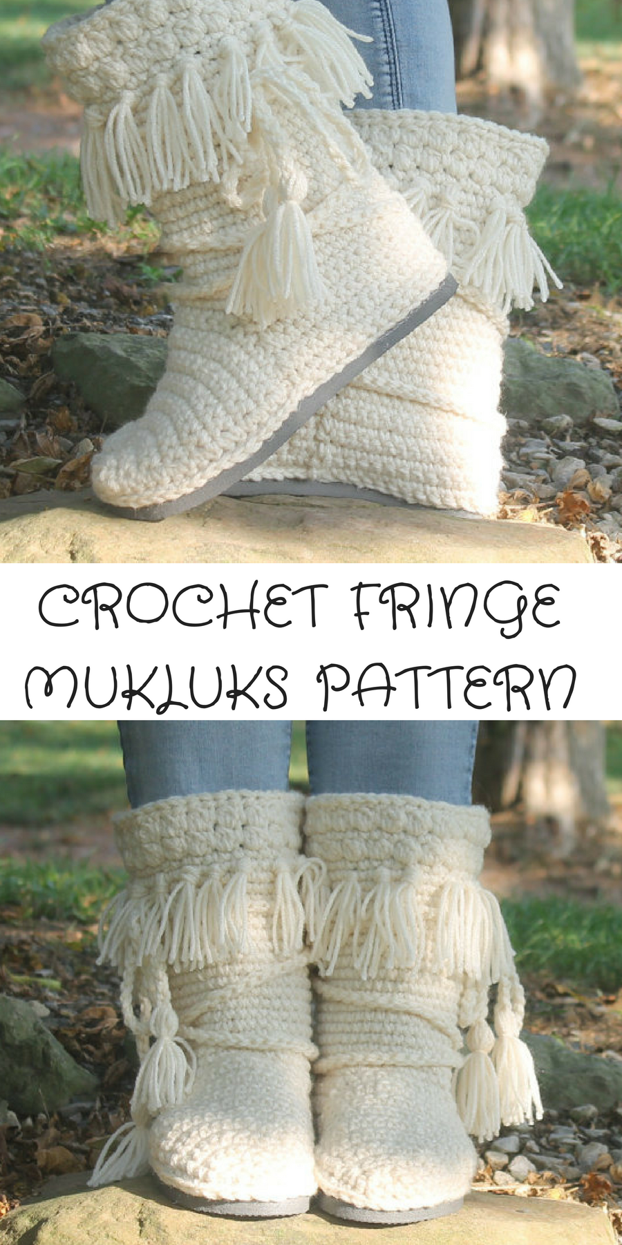 super cute crochet mukluk boot pattern with fringe -- awesome for a ...