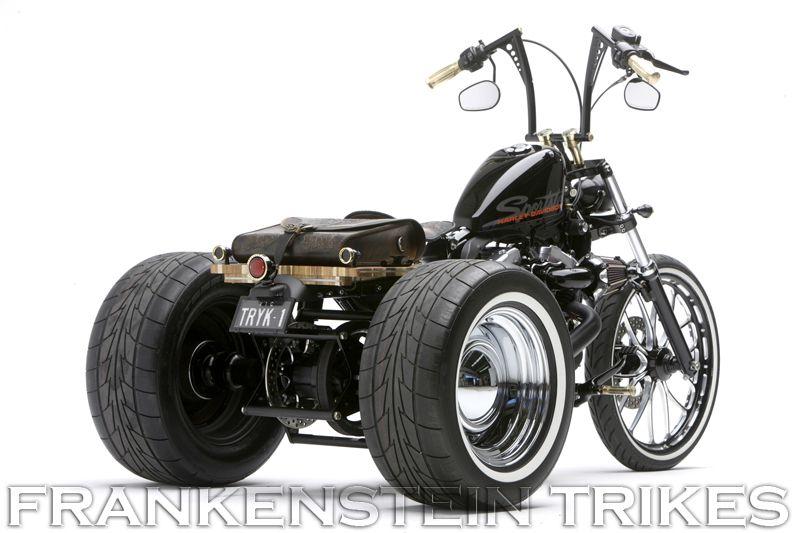Frankenstein Trikes Harley Davidson Trike Kits Harley Davidson Trike Custom Harleys Trike Kits