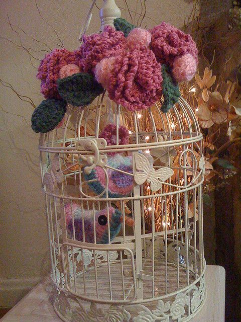 Decorative Bird Cage. by MRS TWINS, via Flickr