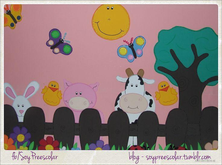 Decorado para el sal n de clase por md soy preescolar for Como decorar un mural