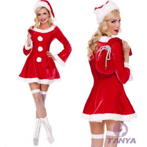 Sleigh Hottie Christmas Costume Adult Mrs Santa Claus Miss