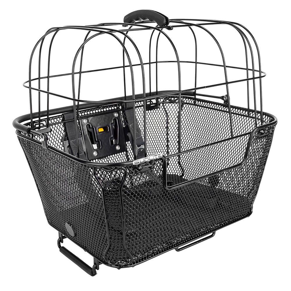 Rear Mounted Pet Bicycle Transport Small Dog Wicker Bike Basket Safe Travel rack