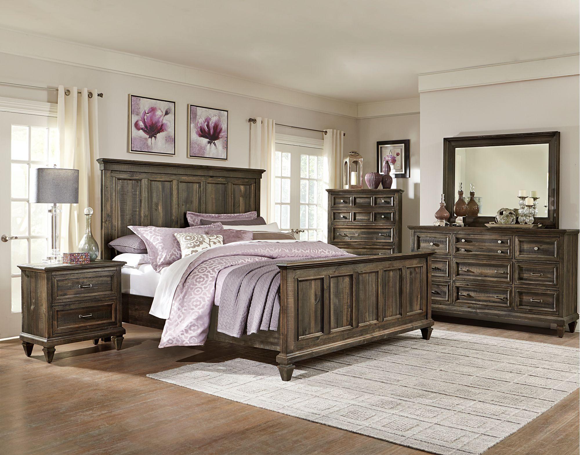 Charcoal Gray 6 Piece Queen Bedroom Set Calistoga