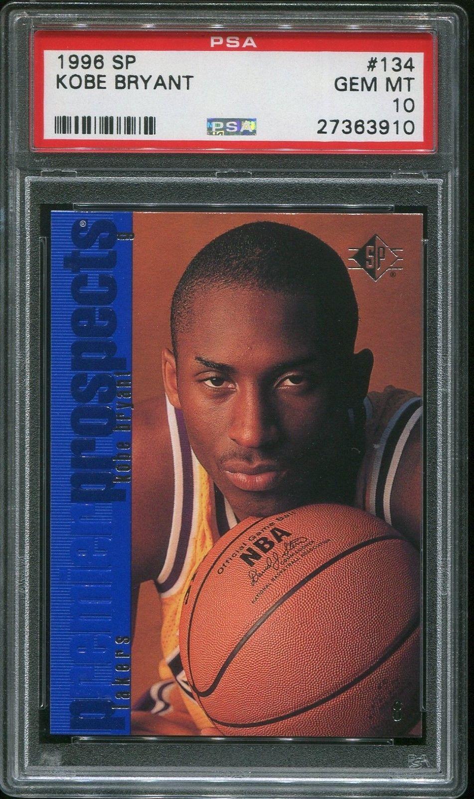 199697 sp basketball 134 kobe bryant rookie rc psa 10