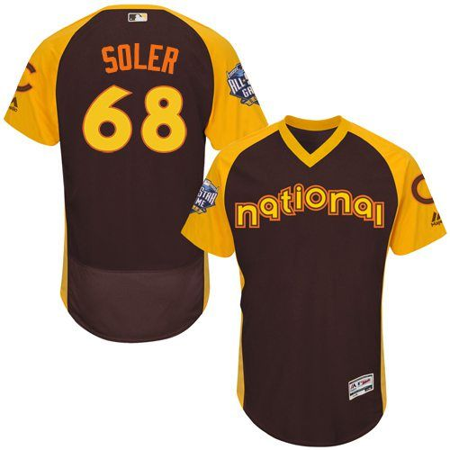 Jorge Soler Brown 2016 All-Star Jersey - Men's National League Chicago Cubs #68 Flex Base Majestic MLB Collection Jersey