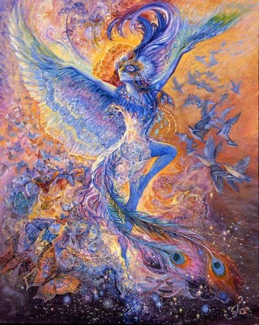 Blue bird by Josephine Wall