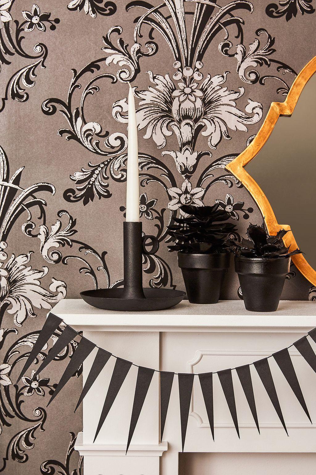 69 Halloween Decor Ideas for Your House House and Decorating - black and white halloween decorations