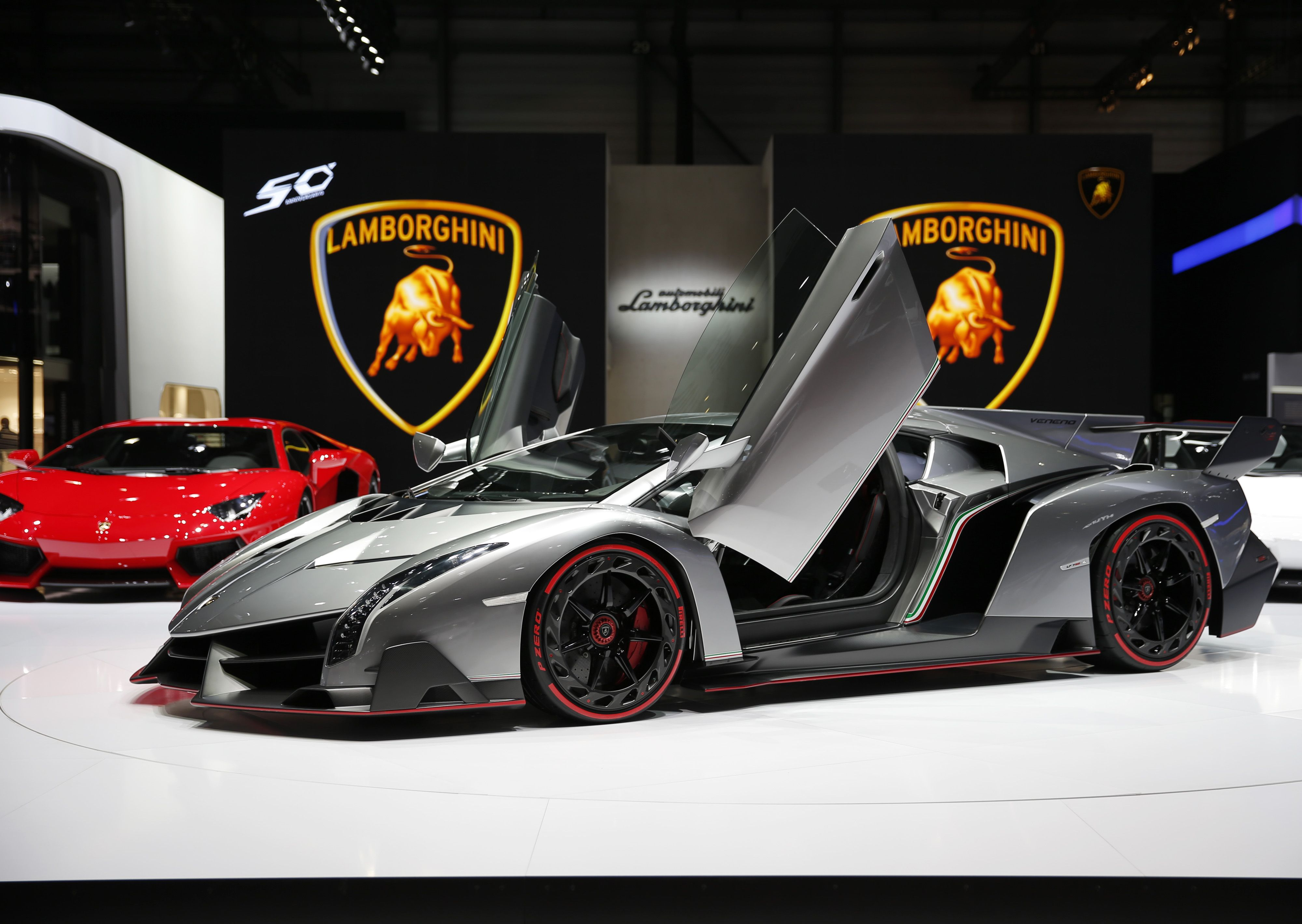 Official opening of the geneva motor show lamborghini veneno 3 9 million 0 60 in 3