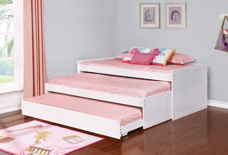 Best Aaron Triple Daybed White Bed Furniture Design Bed Furniture Bedroom Setup 400 x 300