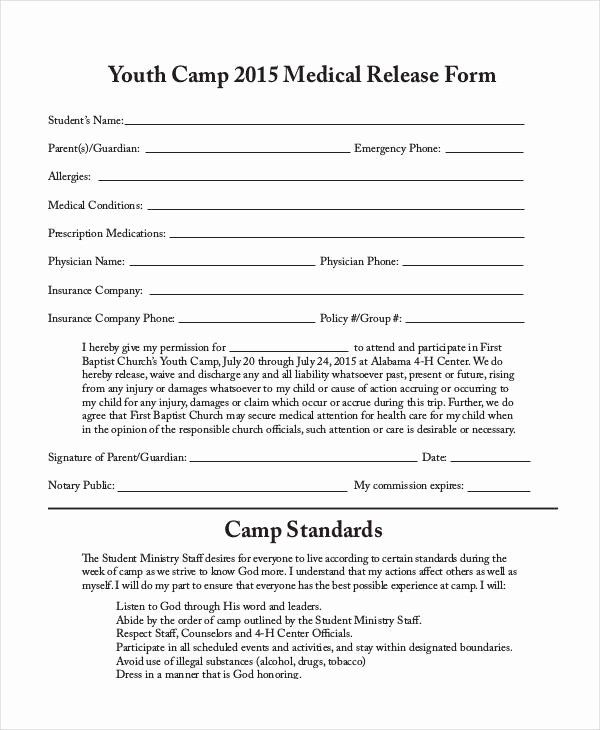 Sample Medical Release Forms New 33 Medical Release Forms