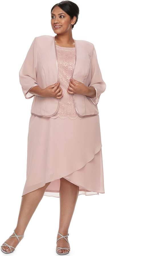5363f4793ec32 Plus Size Maya Brooke Embroidered Dress   Jacket Set in 2018 ...
