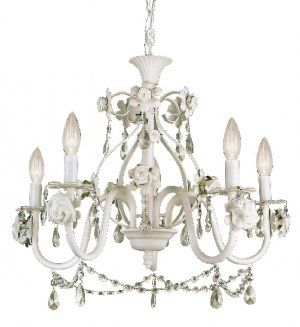 Trans Globe Antique White Crystal Chandelier With Rose Accents Kdl 702 Trans Globe Lighting Glass Ceiling Pendant Crystal Chandelier