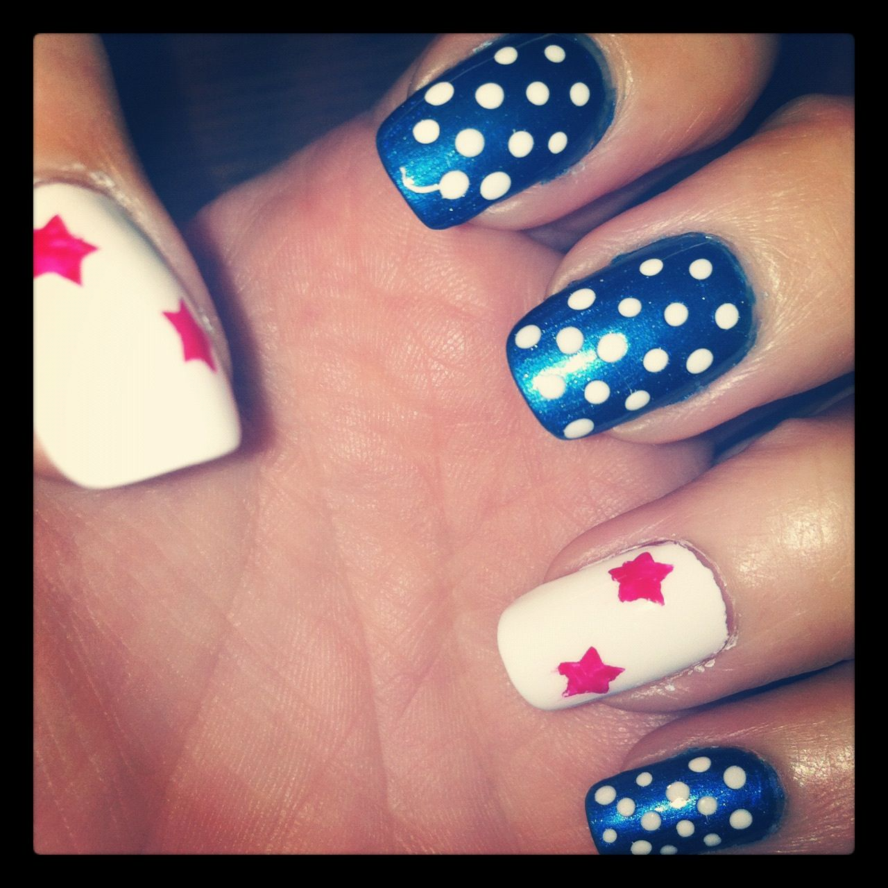 Get The Look 3 Valentine S Day Nail Art Ideas From Lauren B: Patriotic Nails, Holiday Mani, Nails