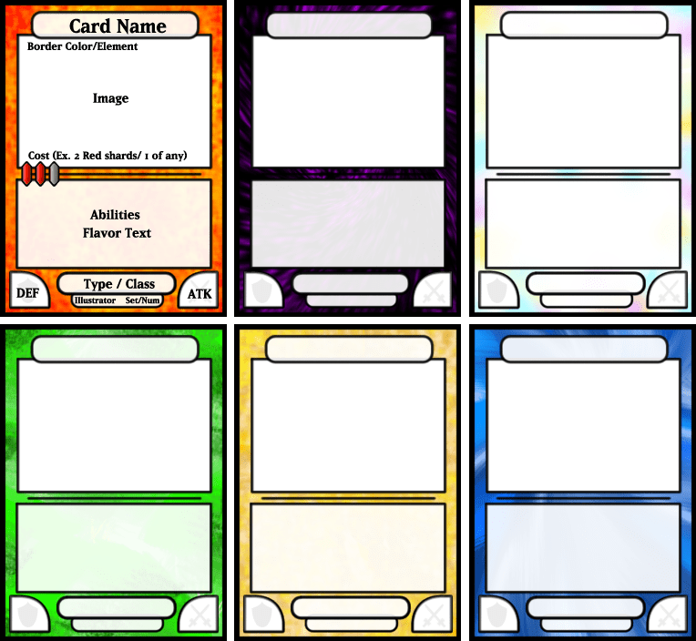 Trading Card Game Template Free Download Trading Card Template Game Card Design Card Templates Free