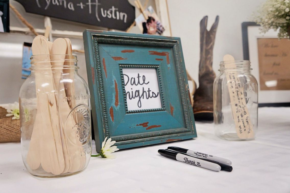 Date Night Jar Idea | Bridal Shower