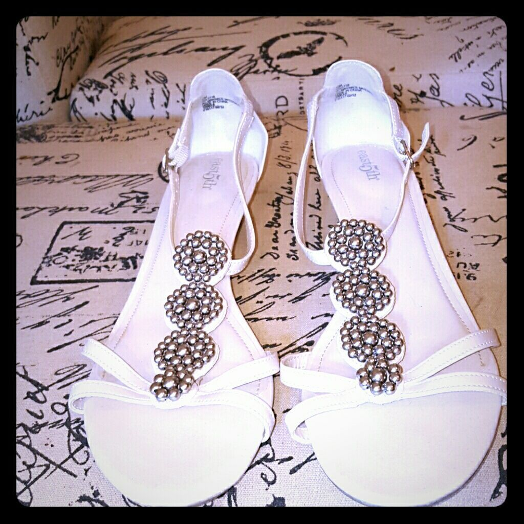 East 5th Shoes | Cute Low Wedge Sandals | Color: Silver/White | Size: 10 #lowwedgesandals East 5th Shoes | Cute Low Wedge Sandals | Color: Silver/White | Size: 10 #lowwedgesandals East 5th Shoes | Cute Low Wedge Sandals | Color: Silver/White | Size: 10 #lowwedgesandals East 5th Shoes | Cute Low Wedge Sandals | Color: Silver/White | Size: 10 #lowwedgesandals