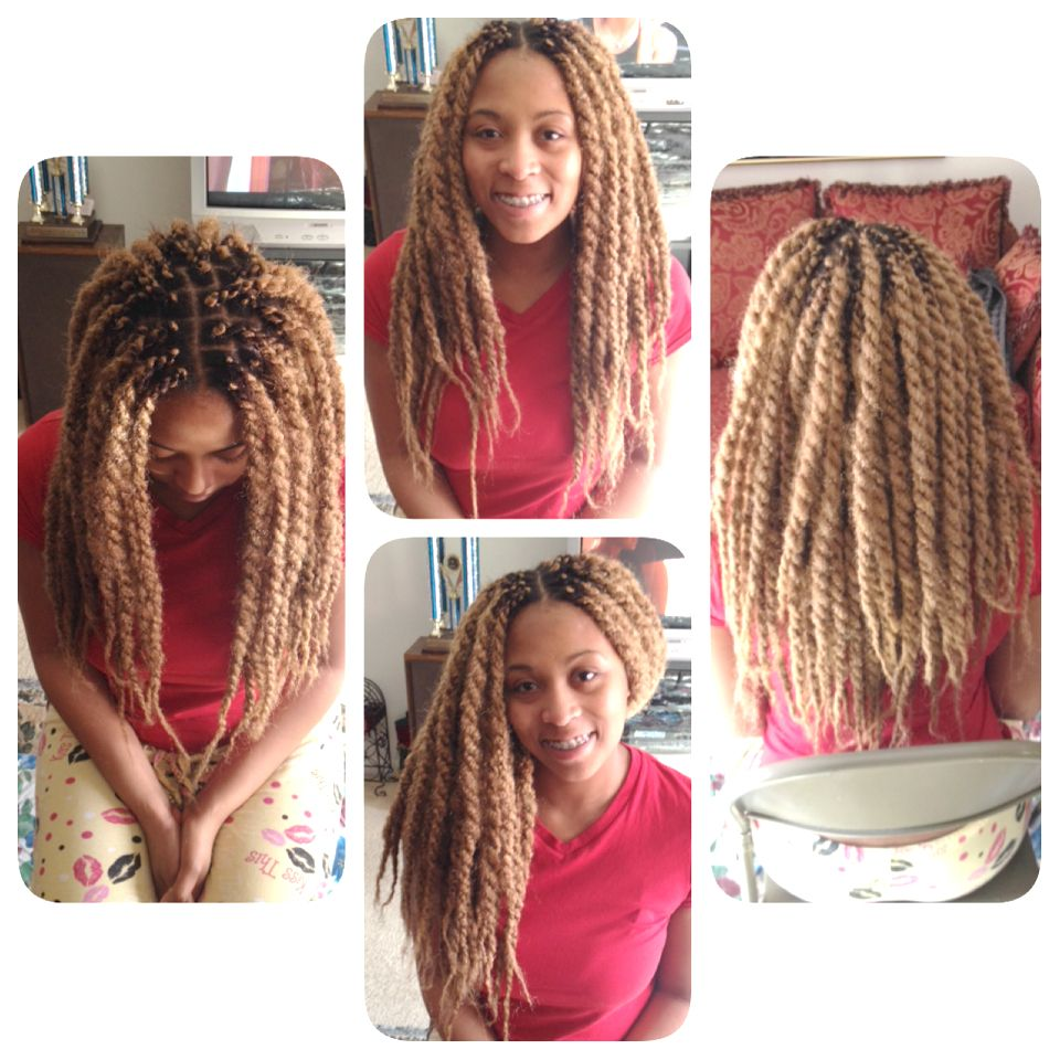 blonde marley twists client