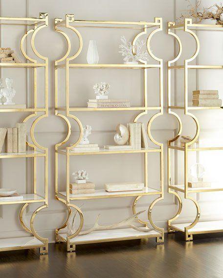 Bernhardt Villegas Brass Etagere Grey Interior Doors Home Decor