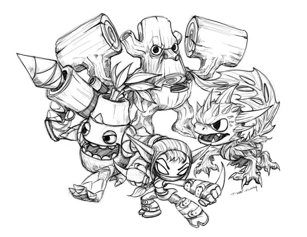 Ausmalbilder Skylander Trap Team  Cartoon coloring pages, Dog