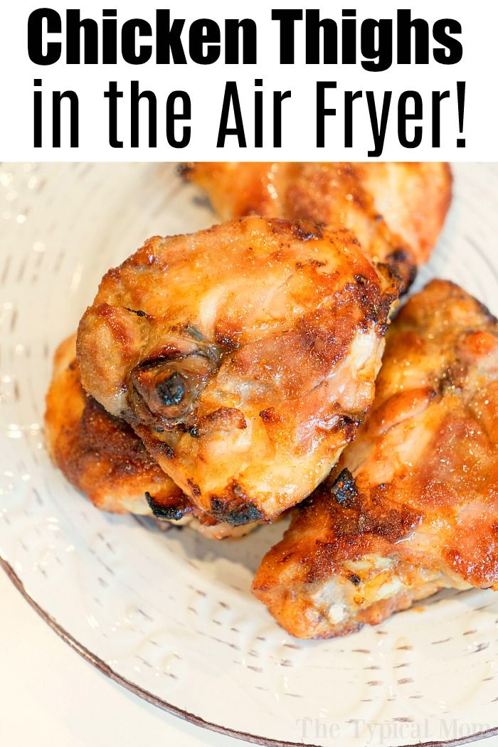 Best air fryer chicken thighs ever! Use this dry rub for
