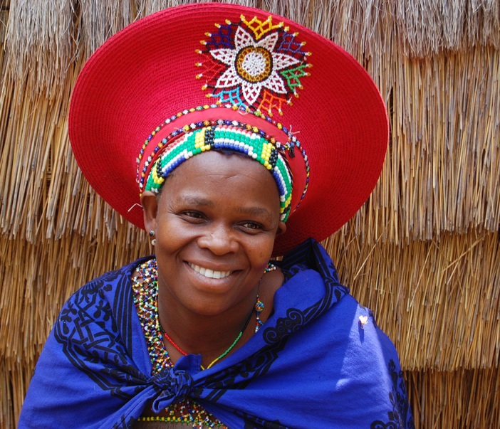 Woman wearing her traditional Zulu Hat. South Africa. BelAfrique - Your  Personal Travel Planner - www.belafrique.co.za 4bbe06e5095