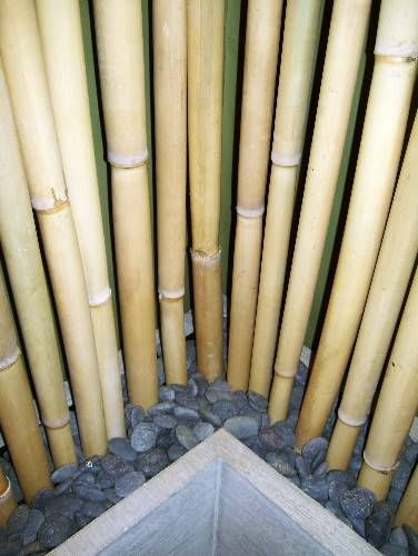 Smart ideas for outdoor privacy and backyard retreats for Hanging bamboo privacy screen