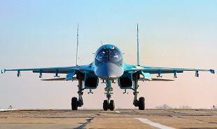 Aviones Su-34 y Su-27 bombardean posiciones de Al Nusra en Idleb