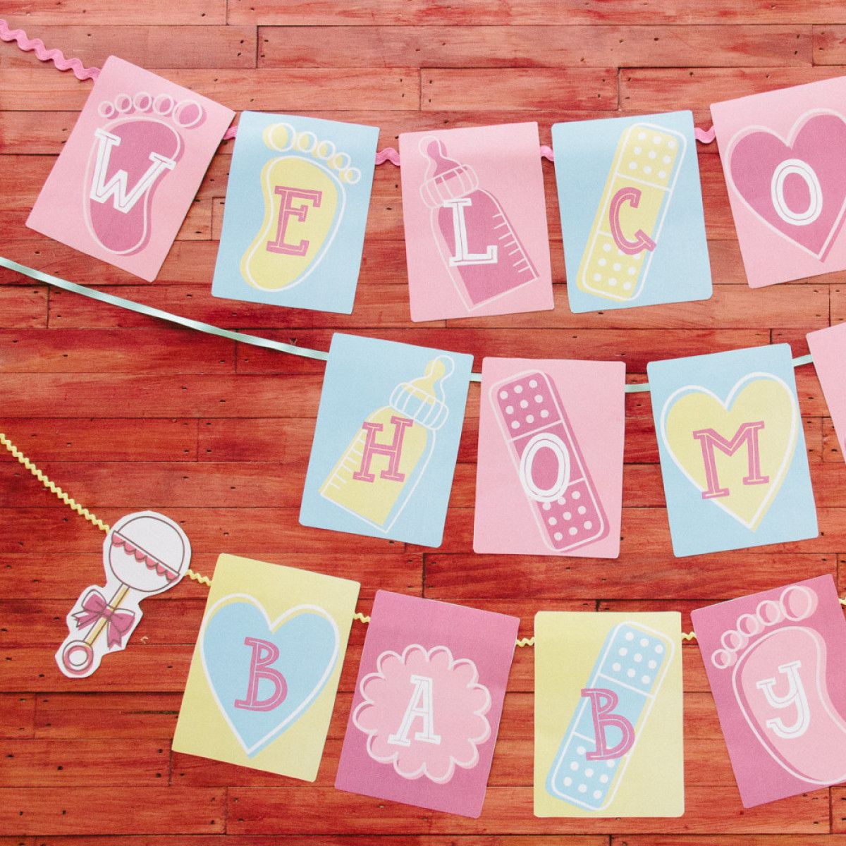 welcome home baby banner playground pinterest baby banners