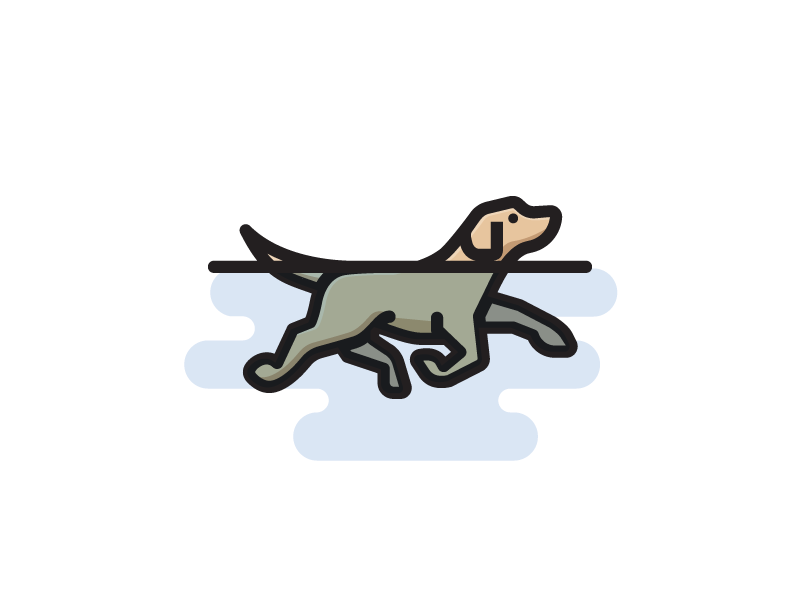 Swimming Dog Dog Icon Dog Walking Logo Dog Drawing
