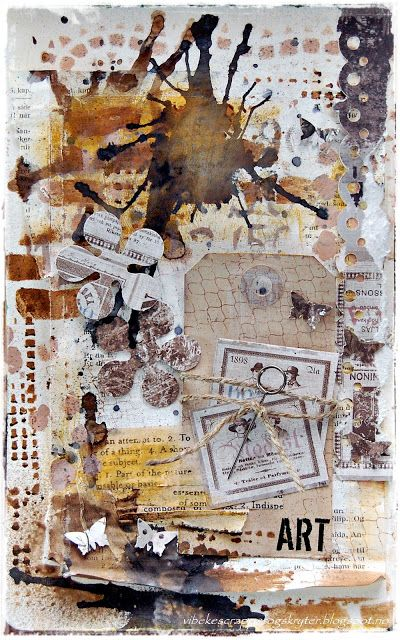 art journal again from Vibeke : Welcome to my scrappeverden