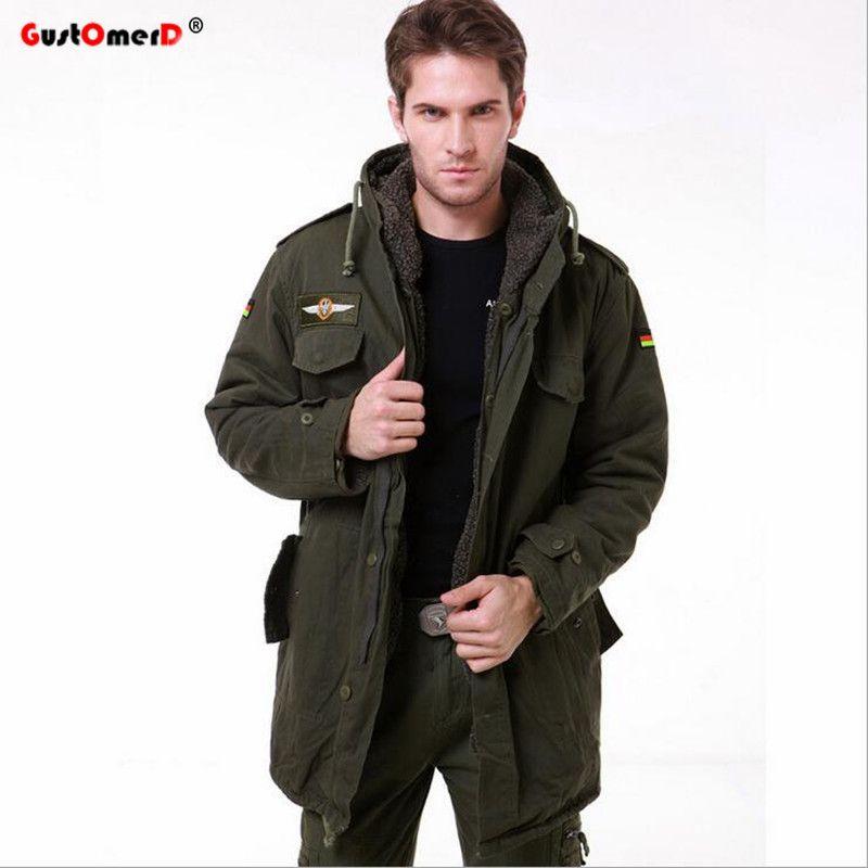 5db53479fb8e9 GustOmerD Brand New Military Tactical Jacket Men Warm Cotton Coats ...