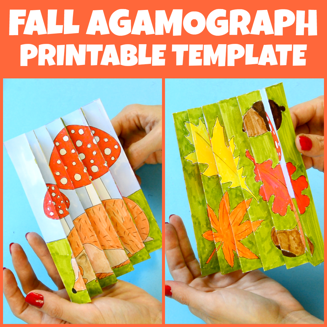 Fall Agamograph Template for Kids #fall