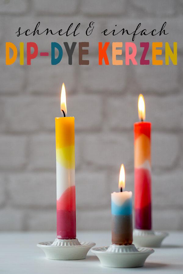 Upcycling DIY: Kunterbunte Dip-Dye-Kerzen